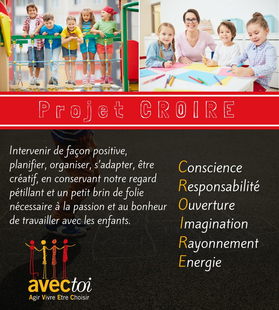 Projet CROIRE AVECtoi.ca