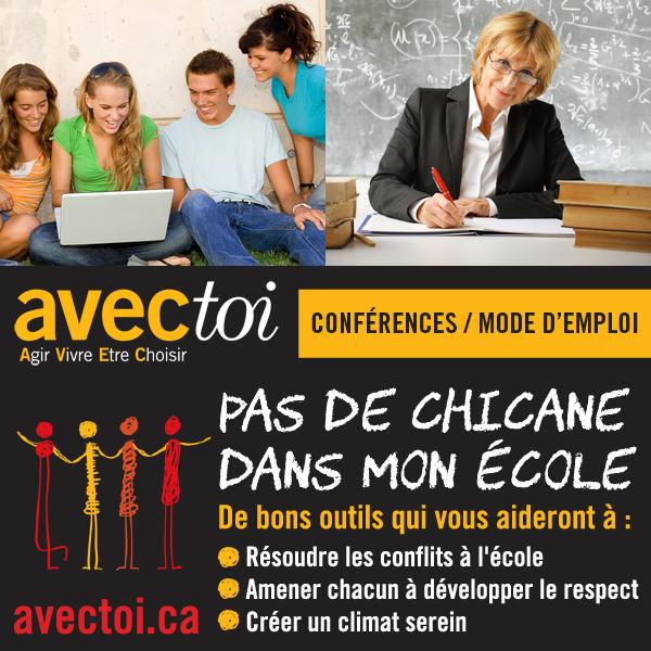Conférence pas de chicane dans mon école AVECtoi